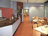 Blick in die Caféteria