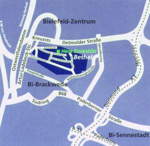 Anfahrtkarte Bielefeld -> Bethel